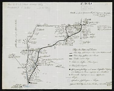 Sketch of the roads to Buea. With a letter by S. Keller, dated 18. September 1901.