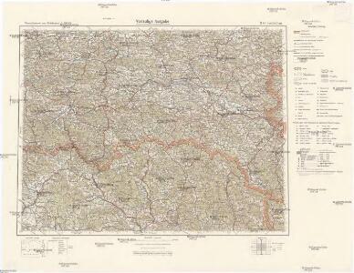 Übersichtskarte von Mitteleuropa 1:300 000