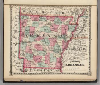 Schonberg's Map of Arkansas.