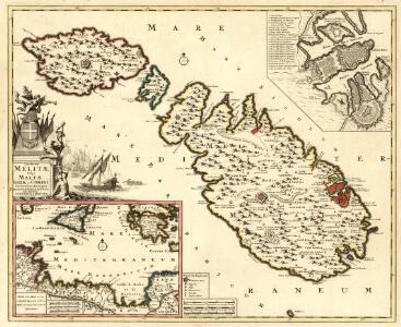Insularum Melitae Vulgo Maltae Gozae et Comini Correctissima Descriptio