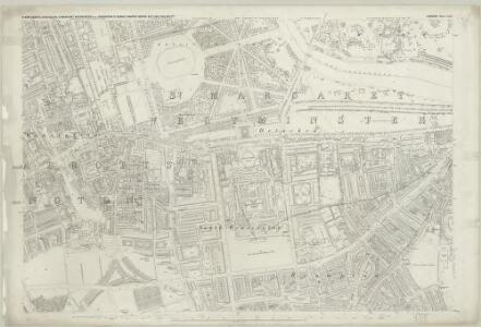 London (First Editions c1850s) XLII (includes: City Of Westminster; Kensington; Paddington) - 25 Inch Map