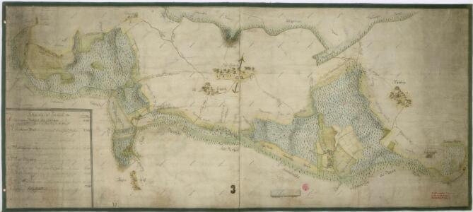 Mapa lesů panství Kout a Trhanov