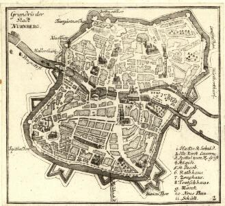 Grundris der Stadt Nürnberg