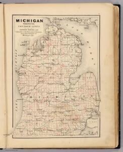 Michigan showing contour lines.