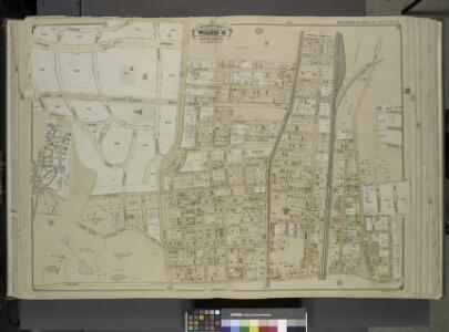 Queens, Vol. 1, Double Page Plate No. 11; Sub Plan;   Formerly Town of Flushing 3rd Ward; [Map bounded by Grand Ave., Black Stump      Road, Charlecote, Croydon Jamaica Estates Road, Edgerton Blvd., Doncaster Blvd., Henley Road, Midland Parkway, Radno