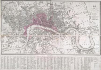LONDON AND WESTMINSTER with the Borough of SOUTHWARK Being an INDEX to the Large Plan in forty sheets 231