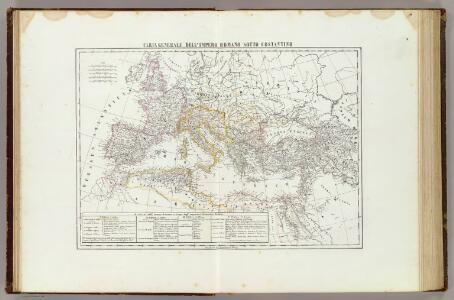 Carta generale dell'Impero Romano sotto Costantino.