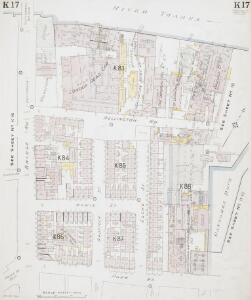 Insurance Plan of London South West District Vol. K: sheet 17