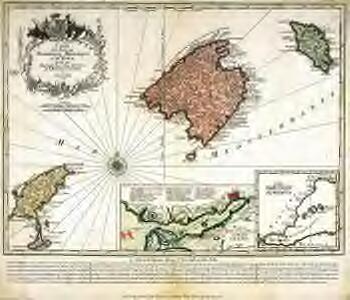 Carte des iles de Maiorque Minorque et d'Yvice