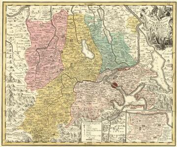 Canton Lucern sive Illustris Helvetiorum Respublica Lucernensis cum Subditis suis cum Subditis suis et Confinibus denuo correcta