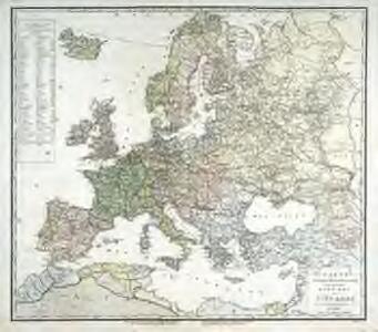 Carte politique hydrographique [et] routiere de l'Europe