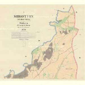 Mirotein (Merotine) - m1814-1-001 - Kaiserpflichtexemplar der Landkarten des stabilen Katasters