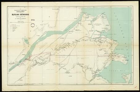 The German Portuguese border region at the mouth of Ruvuma River. Surveyed in February 1895 by Dr. Franz Stuhlmann