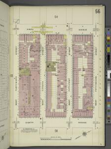 Manhattan, V. 5, Plate No. 56 [Map bounded by 9th Ave., West 52nd St., 8th Ave., West 49th St.]