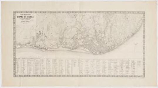 Carta topographica da cidade de Lisboa : reduzida da que foi levantada n secala de 1/1,000 em 1856 a 1858