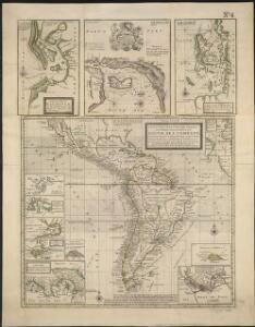A new & exact map of the coast, countries and islands within ye limits of ye South Sea Company, from ye river Aranoca to Terra del Fuego, and from thence through ye South Sea, to ye north part of California &c. with a view of the general and coasting ...
