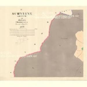 Schweine (Swinow) - m2984-1-003 - Kaiserpflichtexemplar der Landkarten des stabilen Katasters