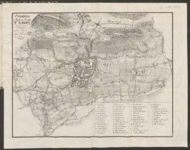 Grundriss der Stadt und des Bezirkes St. Gallen