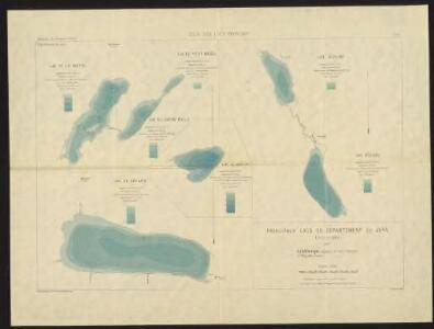 Principaux lacs du Département du Jura