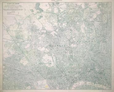 Map shewing the situation of all premises licensed for the sale of intoxicating liquors in the County of London