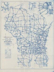 Preliminary traffic map, showing annual 24 hour average traffic, state of Wisconsin