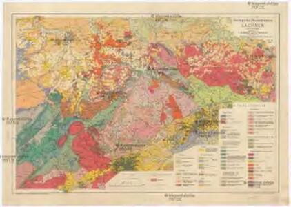 Geologische Übersichtskarte von Sachsen i. M. 1:400 000