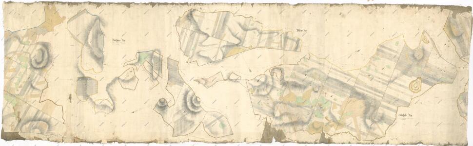 Hospodářská mapa revírů Jedlina, Pořejov a Žebráky