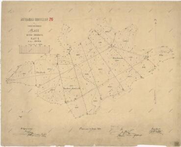Záměrná mapa polesí Doubrava