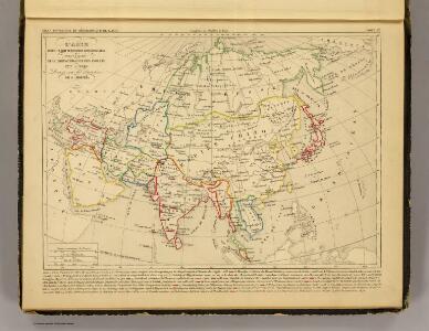 L'Asie, 1227 a 1840.