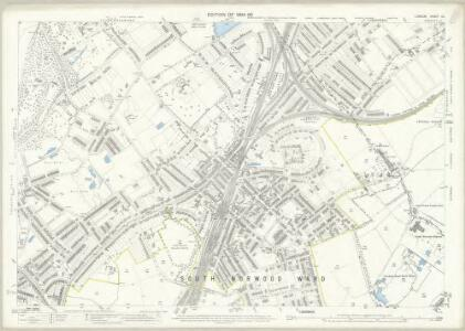 London (Edition of 1894-96) CL (includes: Beckenham; Croydon St John The Baptist; Penge) - 25 Inch Map