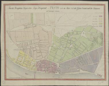 Plan der Königlichen Ungarischen Freyen Hauptstadt Pesth, wie im Jahre 1821 die Gassen benant, und die Nummern der Eckhäuser bestanden