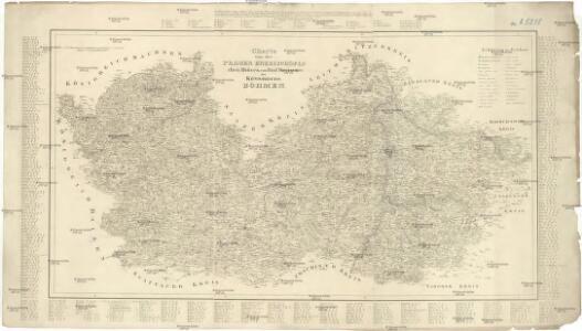 Charte von der Prager Erzbischöflichen Diöcese von fünf Kreisen des Königreichs Böhmen
