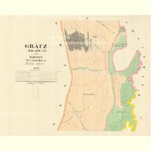 Grätz (Hradetz) - m0888-1-002 - Kaiserpflichtexemplar der Landkarten des stabilen Katasters