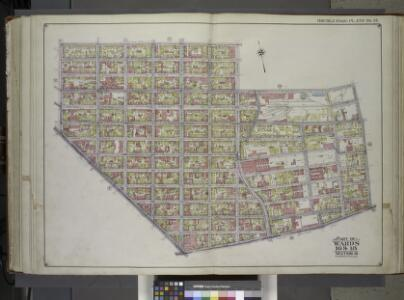 Brooklyn, Vol. 1, 2nd Part, Double Page Plate No. 37; Part of Wards 16 & 18, Section 10 & 8; [Map bounded by Ten Eyck St., Bushwick Ave., Meserole St., Morgan Ave; Including Flushing Ave., Broadway, Union Ave.] / by and under the direction of Hugo Ull...