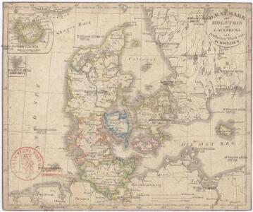 Daenemark mit Holstein und Lauenburg auch südlicher Theil von Schweden