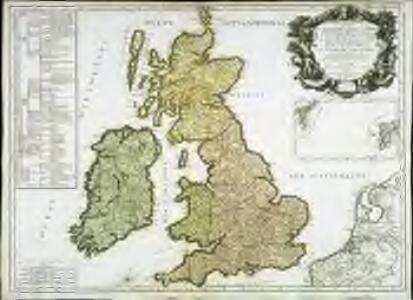 Les isles Britannicques ou sont le royaume d'Angleterre diuisé en ses quatre roy.mes des Saxons