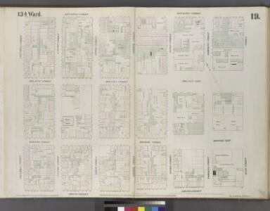 Plate 19: Map bounded by Rivington Street, East Street, Grand Street, Columbia Street.