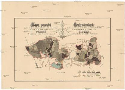Mapa porostů revíru Zruče s lesním oddělením Zábělá (rev. Hrádek) patřicích velkostatku královsk. města Plzně