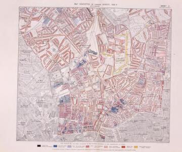 Poverty map of London, 1891