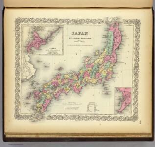 Japan Nippon, Kiusiu, Sikok, Yesso And The Japanese Kuriles.