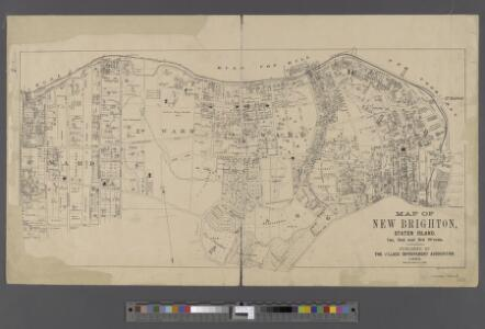 Map of New Brighton, Staten Island [cartographic material] : 1st, 2nd and 3rd wards.