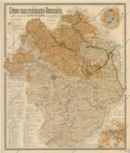 Církevní mapa arcibiskupství Olomouckého