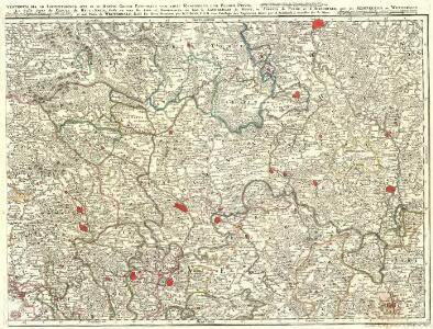Vestrovaldia ad Septentrionem sita in IV. Mappis Geogr: Proposita cum adiac: Regionibus. cum Plurim: Privil: