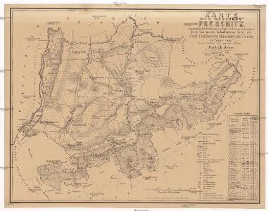 Karte des Bezirkes Pressnitz
