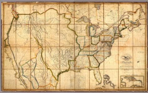 Map of the United States with the contiguous British & Spanish Possessions.
