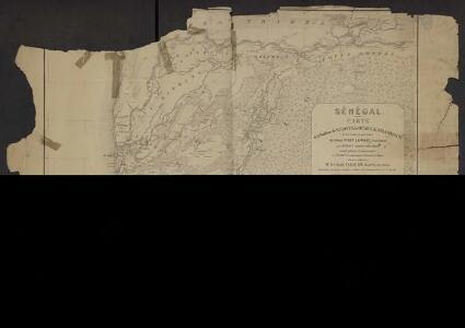 Sénégal. Carte de la banlieue de St Louis, du Oualo, du N Diambour