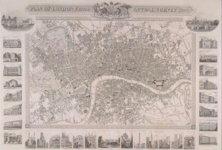 PLAN OF LONDON FROM AN ACTUAL SURVEY 238