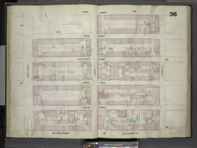 [Plate 36: Map bounded by Sixth Street, Avenue B,     East Houston Street, First Street, First Avenue; Including Fifth Street, East    Fourth Street, Third Street, Second Street, Avenue A]