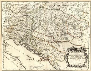 Il Regno d'Vngaria Transilvania, Schiavonia, Bosnia, Croatia, Dalmatia.
