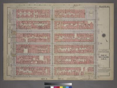 Plate 43, Part of Sections 4&5: [Bounded by Central Park South, Fifth Avenue, W. 53rd Street and Seventh Avenue.]